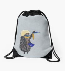 Art Poster - Pro-EU protester at Kiev's Maidan Drawstring Bag
