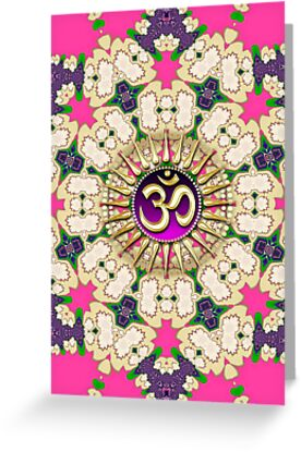 OM Golden Pink Purple Mandala iPhone & iPod Case by webgrrl