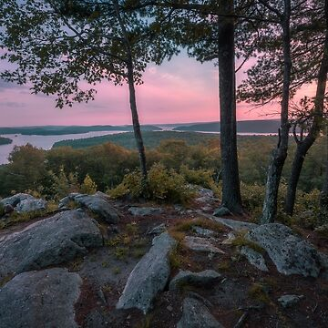 Sunset on Soapstone Hill, Massachusetts by mattmacpherson
