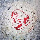 Super Mario Bros Urban Hip Hop Wall Tag by Pepe Psyche