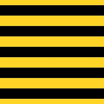 Yellow and Black Honey Bee Horizontal Cabana Tent Stripes by podartist