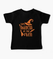Halloween T-Shirts & Gifts: Tiny Witch In The Oven Baby Tee