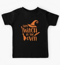 Halloween T-Shirts & Gifts: Tiny Witch In The Oven Kids Tee
