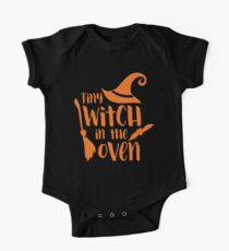 Halloween T-Shirts & Gifts: Tiny Witch In The Oven One Piece - Short Sleeve