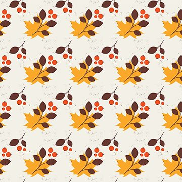 Colorful Autumn Leaves Pattern by bza84