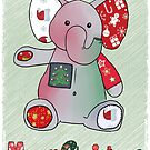 Christmas greeting elephant by Blumchen