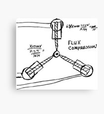 Flux Capacitor Compression Hand-made Sketch Design From Doc Himself! Canvas Print