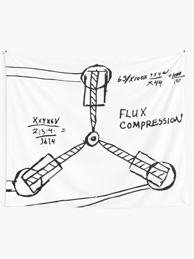 Flux Capacitor Compression Hand Made Sketch Design From Doc Himself
