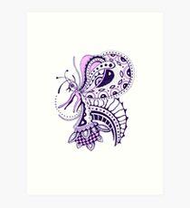 fairy-butterfly Art Print