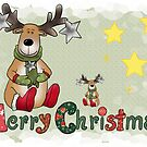 Christmas greeting moose by Blumchen
