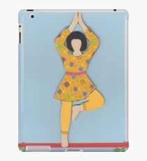 Vriksasana - TREE yoga posture iPad Case/Skin