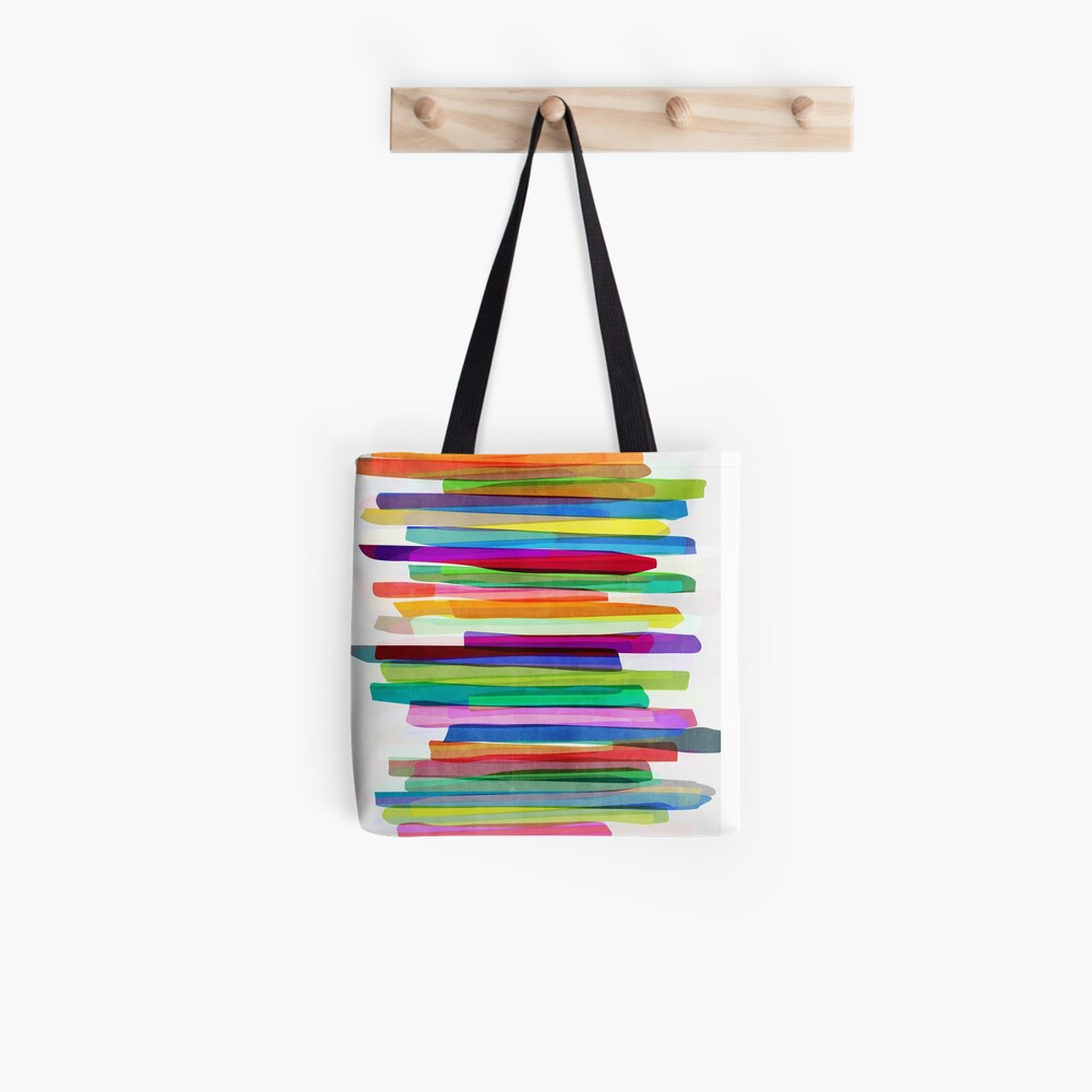 Colorful Stripes 1 Stofftasche