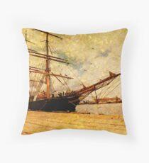 The James Craig Tall Ship Throw Pillow