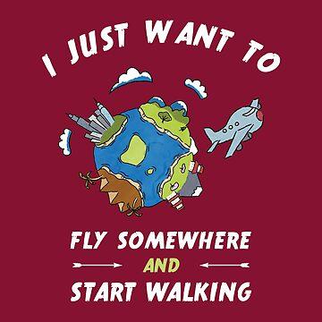 T-Shirt Travel - Wanderlust - just fly away by Juttas-Shirts