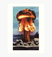 Super Fire A-Bomb Art Print
