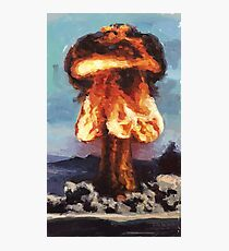 Super Feuer A-Bombe Fotodruck