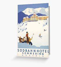 Semmering Austria Vintage Travel Poster Greeting Card