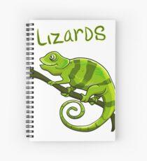 Cuaderno de espiral Camisa del amante del lagarto Lagartos me hacen feliz Camiseta del cumpleaños del regalo