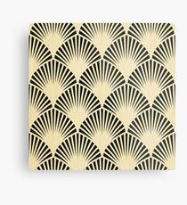 Lámina metálica Art deco, negro, beige, rústico, vintage, ventilador, patrón, elegante, elegante