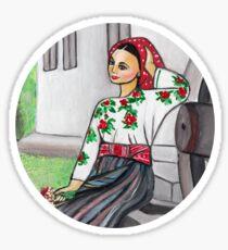 Folk art - I'm in love  Sticker