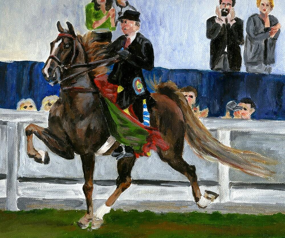 American Saddlebred Horse Portrait by Oldetimemercan