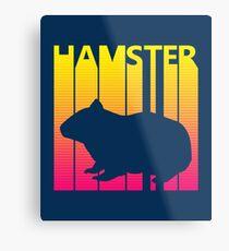 Retro 1980s Hamster Metal Print