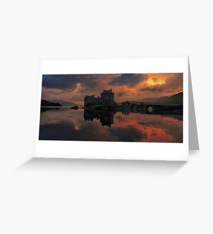 A Still Dusk over Eilean Donan Castle Greeting Card