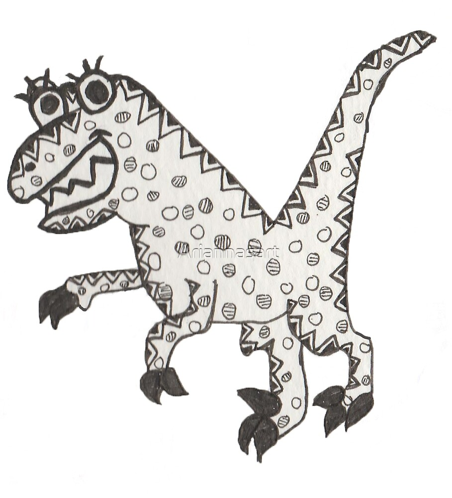 Letter V Dinosaur by Ariannasart