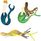 Merpeople on the Move - Sticker Set 7 by TooCoolUnicorn