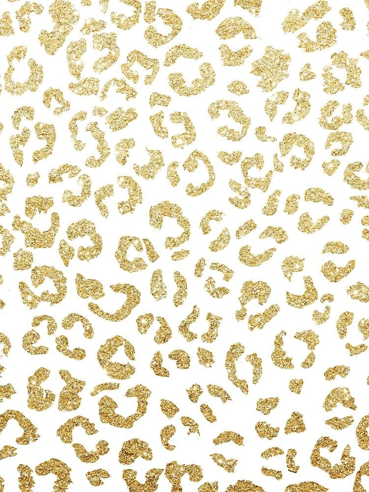Modern leopard pattern luxury faux gold glitter by GirlyTrend