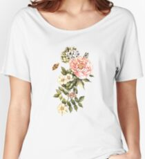 Watercolor vintage floral motifs Women's Relaxed Fit T-Shirt