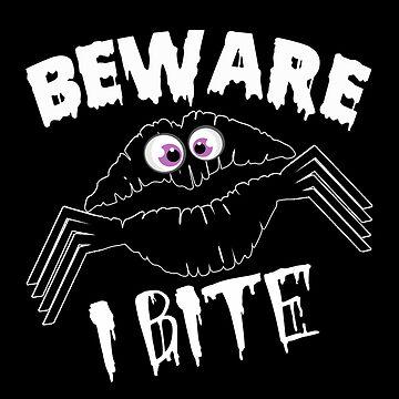 Beware I Bite Shirt Halloween Spider Gift Beware I Bite by MrTStyle