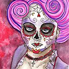 Rosaria - Day Of The Dead Watercolor Beauty by Allise Noble
