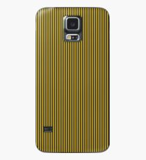 Yellow and Black Honey Bee Vertical Nautical Sailor Stripe Case/Skin for Samsung Galaxy