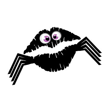Funny Sexy Spiders Kiss Shirt Spooky Halloween Design Scary Gift by MrTStyle