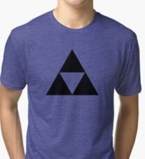 Triforce - Ancient Magical Symbol, Sierpinski Triangle Tri-blend T-Shirt