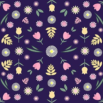 Flower Power Floral Pattern by valleone
