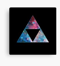 Triforce - Ancient Magical Symbol, Sierpinski Triangle Canvas Print
