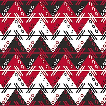 Aztec Chevron Dress | Georgia Red and Black by CollegeTown