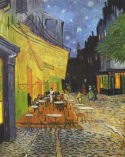 Vincent Van Gogh Cafe Terrace at Night T Shirt Notebook Journal Postcard Hoodie Sweatshirt Poster Print by arcadetoystore