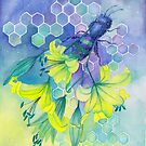 Bee Disappearance, Watercolor Painting by Stephanie KILGAST
