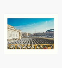 Ready for Mass at the Vatican, St. Paul's Basilicia, Italy Art Print