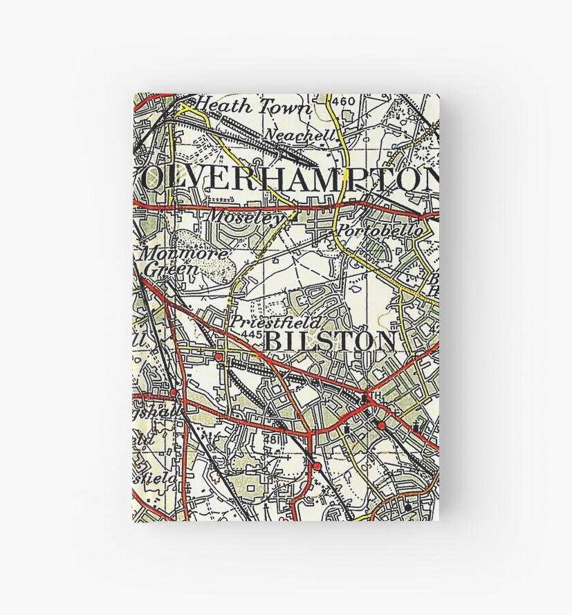 Wolverhampton Old Map by danbadgeruk