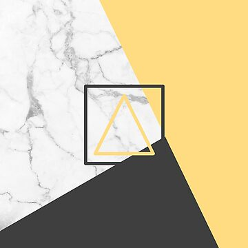 Black Gold and Marble Geometric Design by Rocket-To-Pluto