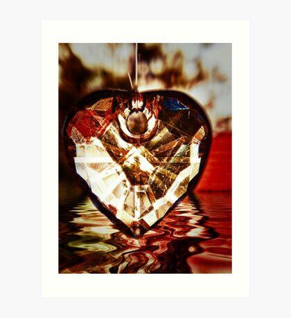 Hanging Abstract Love Art Print