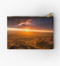 Scenic Sunset over Upland in Spring Studio Pouch