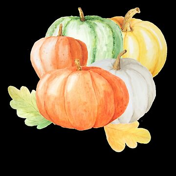 Colorful Pumpkins - Watercolor Print by UllUDesign