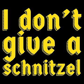 German Schnitzel Gift Oktoberfest Sausage Joke Beer by modernmerch