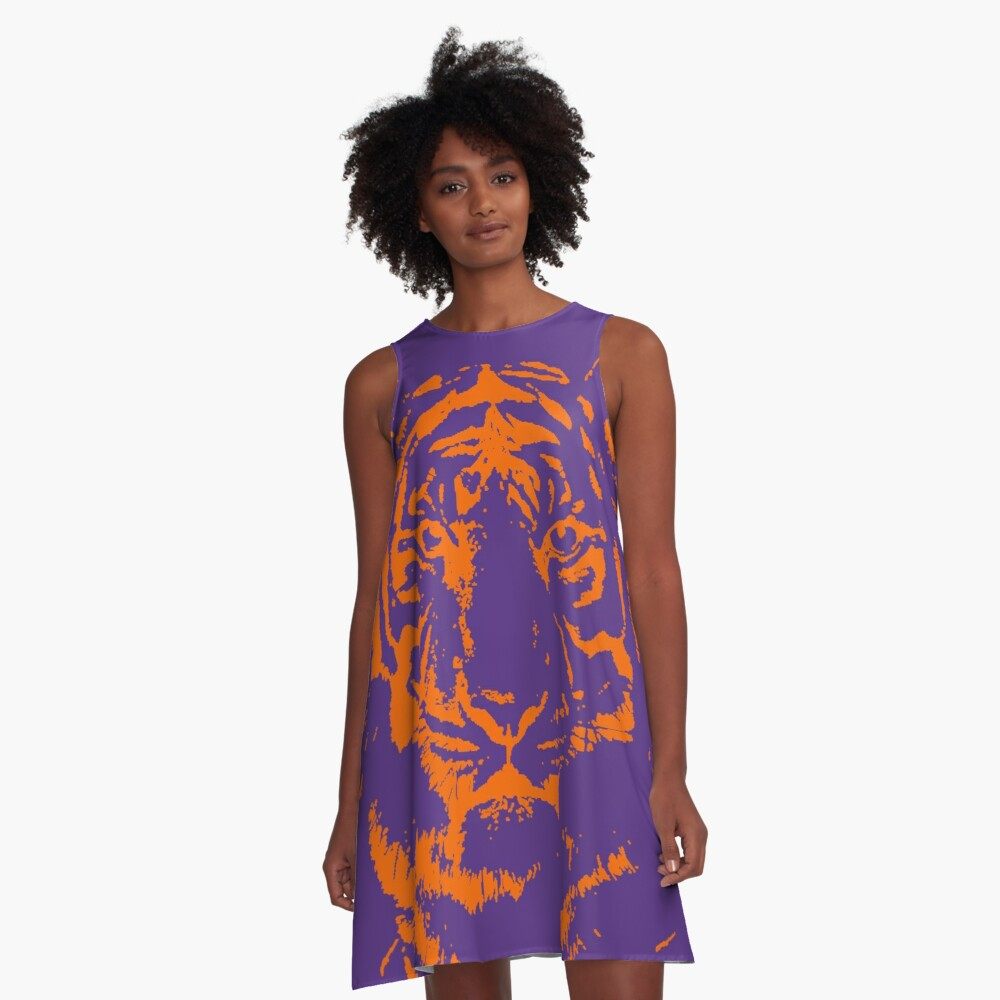 Royal Tiger Gameday Dress | Clemson Purple A-Line Dress
