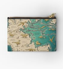map of the supercontinent Pangaea Studio Pouch